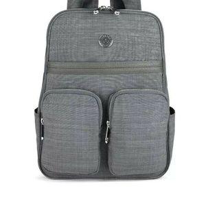 Kipling Sandra Backpack Padded Laptop Gray Grey